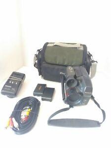 Panasonic PV-IQ225D Camcorder Palmcorder VHS-C Bundle Tested Working