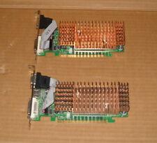 DUE SCHEDA VIDEO PCI-E 64MB E 128MB  7100GS NVIDIA GeFORCE DDR2 , VGA / DVI