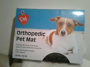 "New Pet Central  Orthopedic Foam Pet Mat non skid bottom 29 "" x 18 "" chocolate"