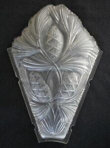 Art Deco Wandleuchten-Glasschirm - Pressglas Pomme de Pin / Ernest-Marius Sabino