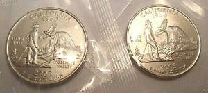 2005 P & D California Quarter Set (2 Coins) *MINT CELLO*  **FREE SHIPPING**