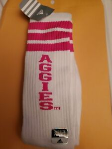 Adidas socks one size long Aggie white and pink tube socks