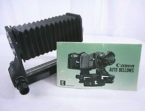Original Canon Auto Bellows for FD Mint New Old Stock No Box with Owner's Manual