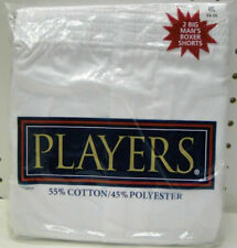2pr Big Mens Players White Boxer Shorts 4X 54-56