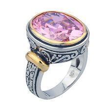 Sterling Silver (925) Pink CZ Ring  Size 8
