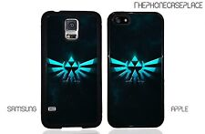 Zelda Triforce Blue Burst Iphone O Samsung Galaxy teléfono Funda Protectora