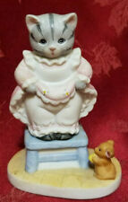 Vintage 1988 Schmid Kitty Cucumber Afraid of Mouse Figurine Pristine Condition