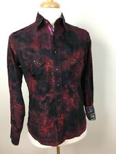 Georg Roth Los Angeles Mens Shirt Size Small Long Sleeve Pearl Snaps Cotton