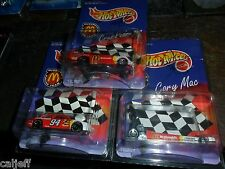 3 CAR LOT AUTOGRAPHED HOT WHEELS CORY MAC BILL ELLIOTT CRUZ PEDREGON MCDONALDS