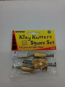 Kemper Tools Clay  Pattern Cutters Square Shape Cutters- Set of 5 Sizes PCSSQ