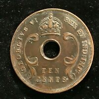 East Africa KGVI 10 Cents 1937 VF