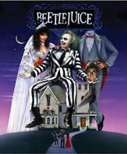 Northwest Horror 50x60 Beetle Juice Beetlejuice Blanket Throw Brand New