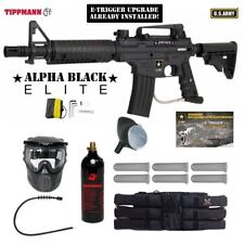 Tippmann US Army Alpha Elite Tactical E-Grip Titanium Paintball Gun Package
