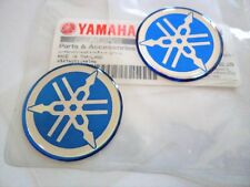 GENUINE Yamaha Tuning Fork Stickers Decals 40mm BLUE FZ FJ RD YZ x 2 *UK STOCK*