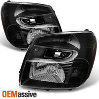 Fit 05-09 Chevy Equinox Black Headlights Headlamps Lights L+R  2005-2009