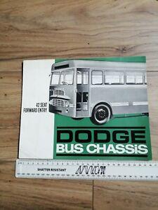 Dodge Bus 42 Seat Forward Entry Sales Brochure