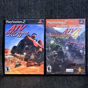 ATV OFFROAD FURY 4 GREATEST HITS & FURY 1 LOT PS2 COMPLETE W/MANUAL FREE Ship