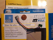 ESU 53661 LokPilot Nano Decoder N/TT DCC Kabel + 8-polig Stecker NEU OVP