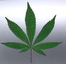 Life like weed leaf Sticker, skater wall sticker 90x110mm aussie made & design