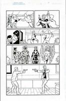 MIGHTY CRUSADERS #3 ORIGINAL COMIC ART PAGE THE SHIELD, WEB, WAR EAGLE, FLY GIRL