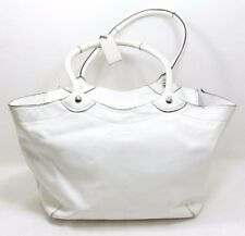 Coach White Patent Leather Bleeker Carry All Tote Handbag K0993 F14483