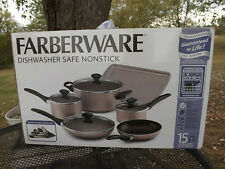 15pc Farberware Non-Stick Cookware Set Includes Kitchen Tools Nib