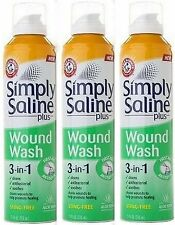 Simply Saline Plus Wound Wash 3-in-1 First Aid Antiseptic 7.10 oz (3 pack)