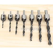 7x Senkbohrer 3-10mm Holzbearbeitung Versenker Senker mit Sechskantschlüssel Set