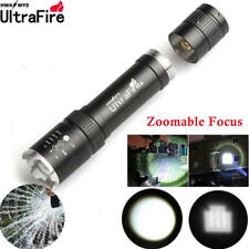 20000LMS Zoomable Tactical T6 LED 18650 Flashlight Focus Torch Lamp Light Top FR