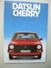 Nissan Datsun Cherry brochure Prospekt German text Deutsch 18 pages 1979