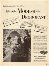 1948-Modess sanitary napkins`40's Fashion-Vintage Ad
