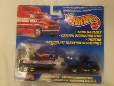 "1997 Hot Wheels ""Racing Team"" Long Haulers Dragster Semi tractor & Trailer Combo"