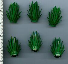 LEGO x 6 Green Plant Prickly Bush 2 x 2 x 4 NEW