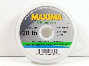 Maxima Ultragreen Leader Tippet Wheel Spools - Size 20 lb - New