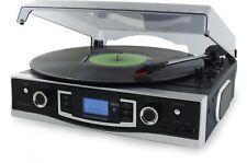 Soundmaster PL525 Plattenspieler mit UKW PLL Radio, USB und Encoding
