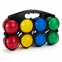 Beginner Bocce Ball Set & Hard Plastic Travel Carry Case