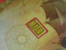 Banknote size Gold KARATBARS NADIR 1/10 GRAM 9999 FINE BAR SEALED IN ASSAY CARD