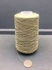 200G CONES 50% SILK 50% LINEN 22NM FINE YARN TAUPE / GREEN MIX 16647