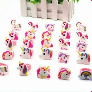 Rainbow Unicorn Party Decors Baby Shower Events Supplies Kids Gifts Rubber Rings