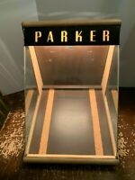 Vintage Mid Century Parker Pen Lighted Countertop Store Display Case