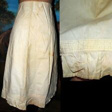 Antique Victorian Pleat Ruffle Romantic Dress Unfinished Petticoat Fabric as is