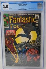 Fantastic Four #52 CGC 4.0 1st Appearance of the Black Panther OW/W Pages No Res