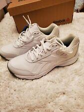 Mens Reekbok Work N Cushion Memory Foam White Sneakers Size 7