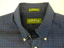 New listing Orvis Long sleeve button down fishing shirt, sz L, blue/ white/beige checks (L)