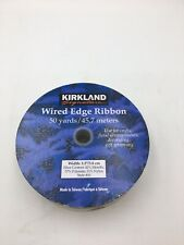 "NEW RIBBON 50 Yard Spool Gold Metallic Wired Edge Ribbon 1.5"" Wide NEW ON SPOOL"