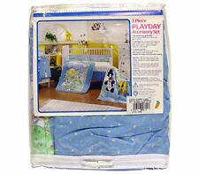 3pc Crib Bedding Set Blanket Crib Skirt Diaper Stacker Baby Looney Tunes Pd New