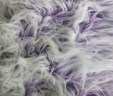 "Faux Fur Fake Purple Frosted Mongolian upholstery fabric by the yard 60"" wide"