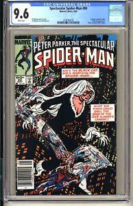 SPECTACULAR SPIDER-MAN #90  CGC 9.6 WP NM+  Newsstand Edition  Black Cat app