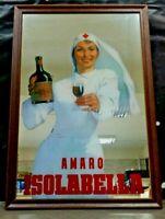 Pubblicità AMARO ISOLABELLA  specchio serigrafato Raro anni 80 nuova CM 64 X 44