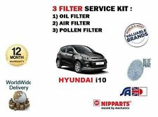 FOR HYUNDAI i10 1.0 1.2  2013--> NEW OIL AIR POLLEN FILTER SERVICE KIT